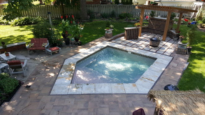 inground hot tub project
