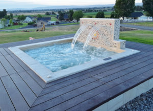 DIY Hot tub with water feature